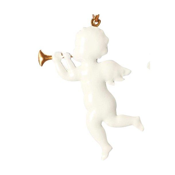 Hvid engel med trompet