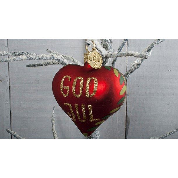 Hjerte - God Jul med granranke
