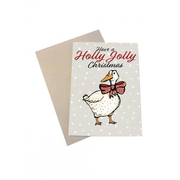 Have a Holly Jolly Christmas fra gåsen med ternet sløjfe