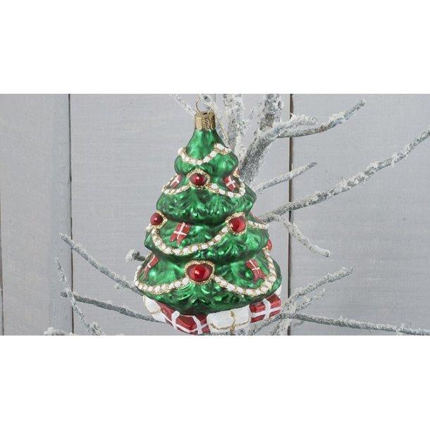 Juletræ med Dannebrog, 10 cm
