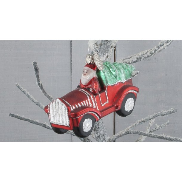 Julemand i bil