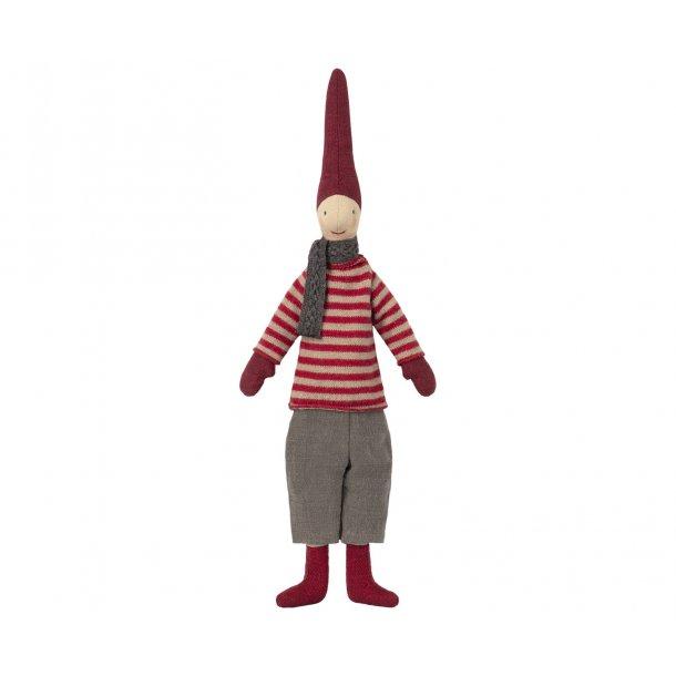 Nissedreng med rødstribet sweater, 2018, MINI