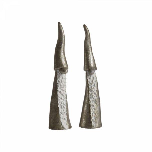 Tomten den Långa,  2 stk. i sølvfarver fra Nääsgränsgården