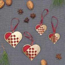 Flettede Julehjerter