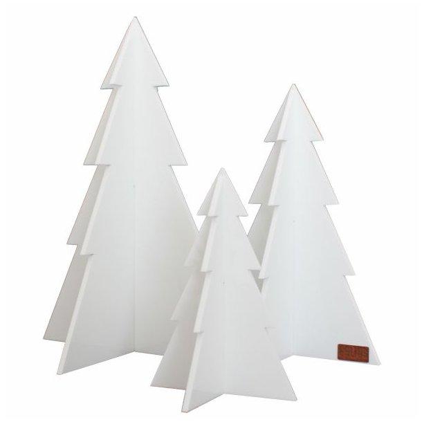 Juletræer, hvid, sæt m/3 stk.