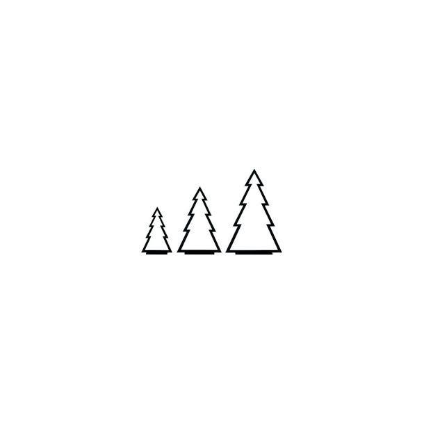 Juletræer på fod, sort, sæt m/3 stk.