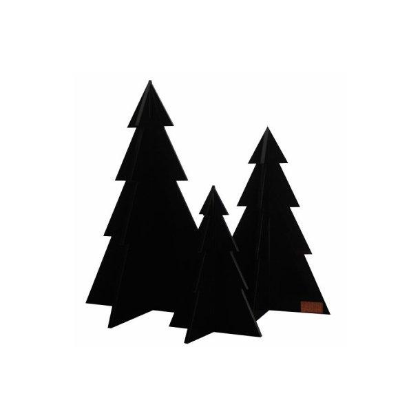 Juletræer, sort, sæt m/3 stk.