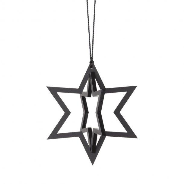 Stjerne, sort, 2 stk.